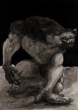 Images de loups garous - Dessin loup garou ...
